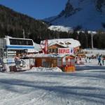 Una pista di sci